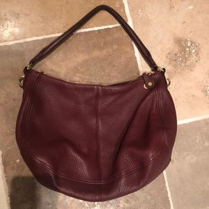 PERFECT wine burgundy JCREW leather purse
